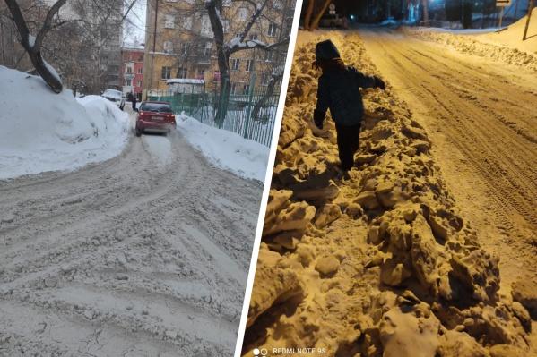 Город уже несколько дней утопает в снеге и грязи