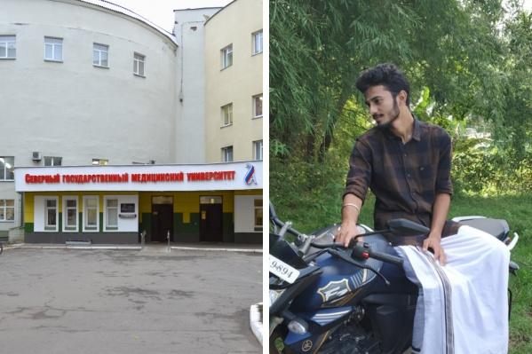Пранав жил и учился в Архангельске третий год