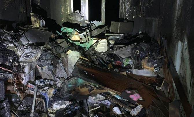 В Губахе произошел пожар в общежитии