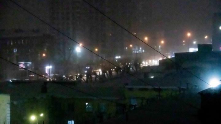 Большевистская в сторону Академгородка стоит уже 3часа из-за незначительной аварии