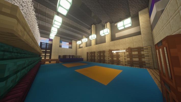 В игре воспроизведены интерьеры зданий. Окна застеклены, двери открываются, есть лестницы — всё как в жизни