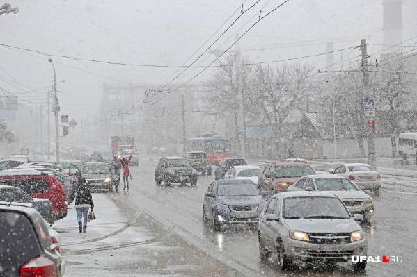 Апрельские снегопады не в новинку Башкирии