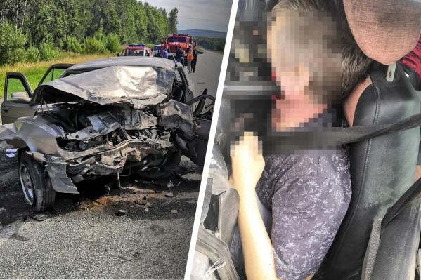 Руль пробил голову водителю «Волги»