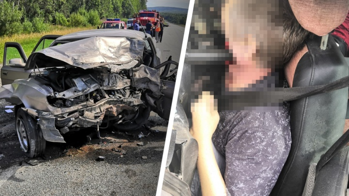 На Пермском тракте произошло жуткое ДТП: виновнику аварии руль разбил голову пополам
