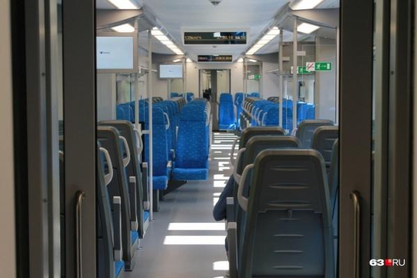 Так в «Ласточке» выглядит вагон класса «Стандарт»