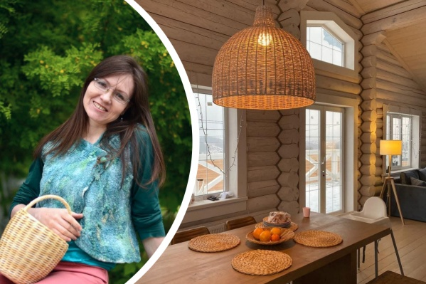 Екатеринбурженка начала плести корзины для себя, а сейчас делает интерьеры для ресторанов