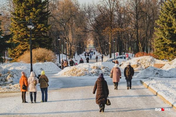 В Перми ожидается потепление