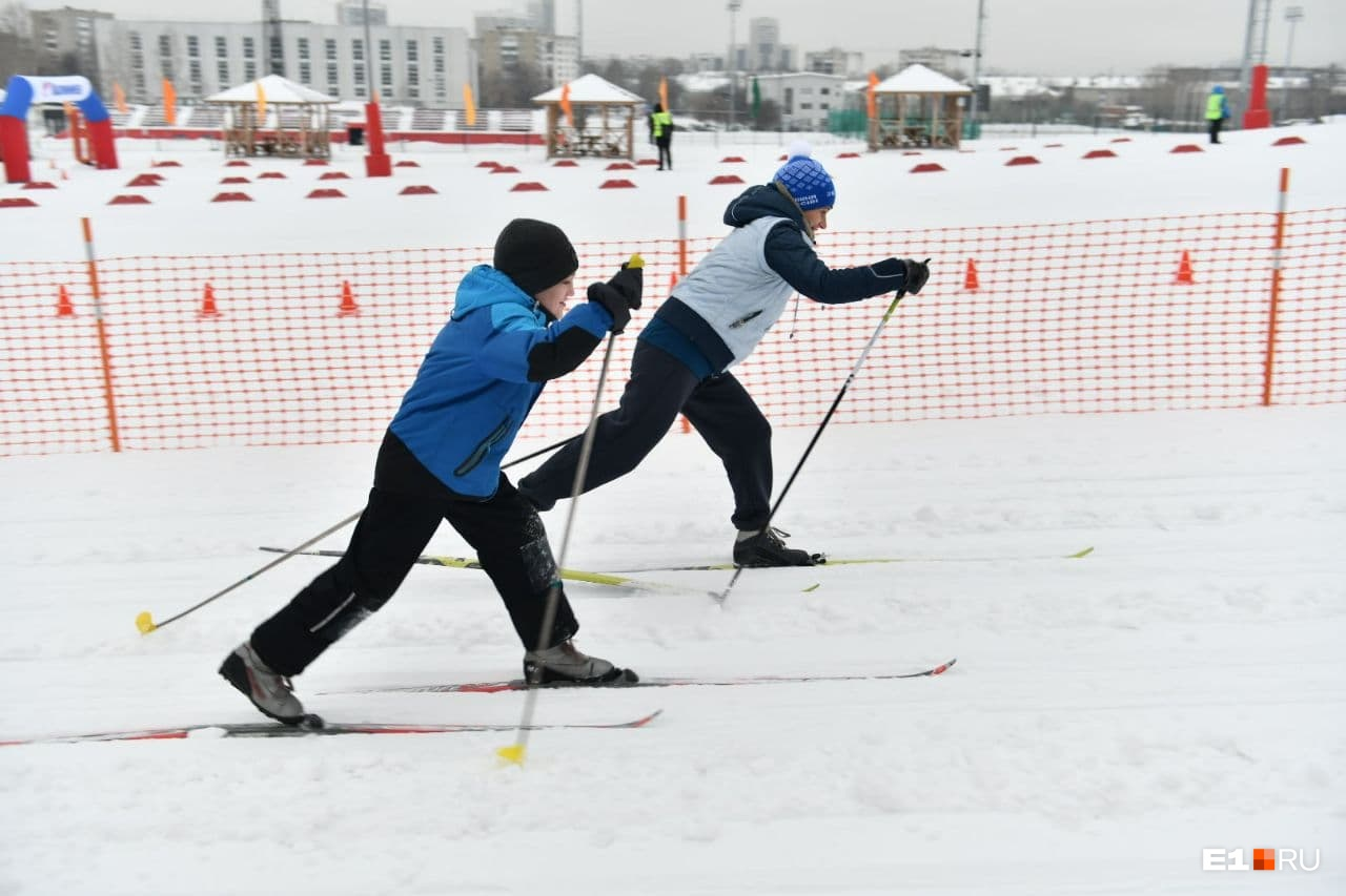 Тепло, которое пришло на Урал, сыграло лыжникам на руку