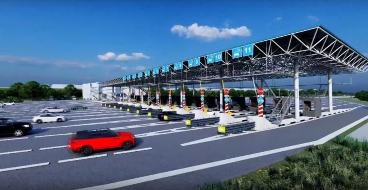 В Новосибирске начали строить пункты оплаты проезда по четвертому мосту