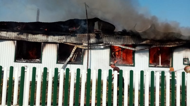 В Башкирии при пожаре погиб мужчина