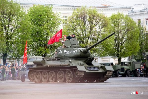 Парад в Ярославле пройдет на Советской площади