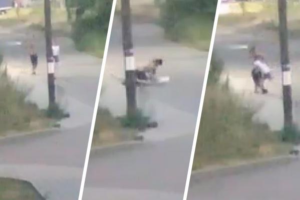 На девушку напал агрессивный мужчина