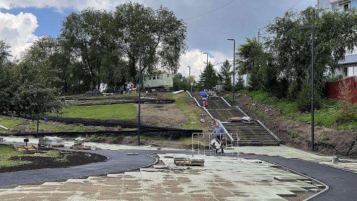 Чиновники назвали сроки завершения ремонта набережной за ТЦ «Красноярье»