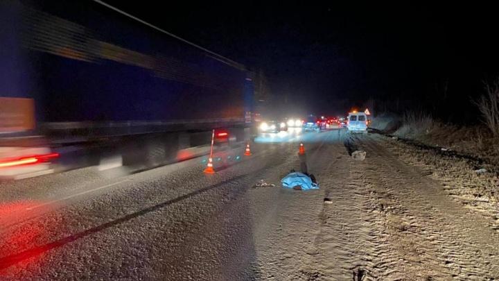 На тюменской дороге сбили насмерть пешехода. Его личность не могут установить