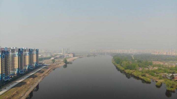 Тюмень вновь окутал смог. Власти — о причинах запаха гари в Тюмени и пригороде