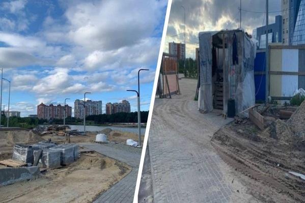 По мнению главы Сургута, в таком виде парк принимать нельзя