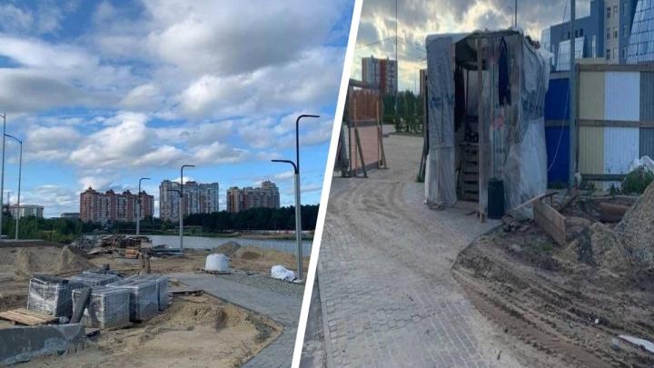 В Сургуте подрядчик провалил 130-миллионный контракт по благоустройству набережной в районе СурГУ