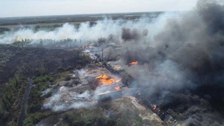 Гигантский пожар на Солнечных сняли с квадрокоптера