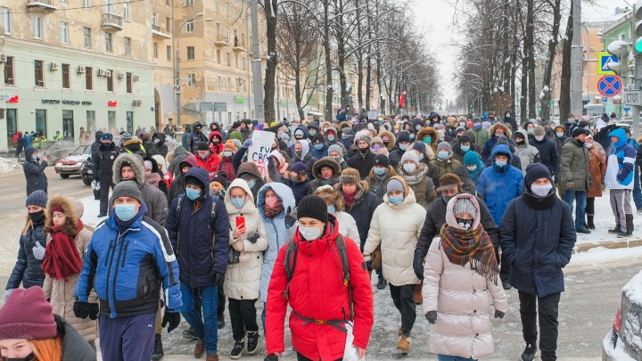 В Перми прошла акция в поддержку Навального. Как это было — показываем в 20 фото