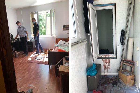 В квартире, где произошло убийство, было много крови