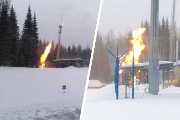 Для замерзающих после пожара на газопроводе местных жителей развернули пункты обогрева