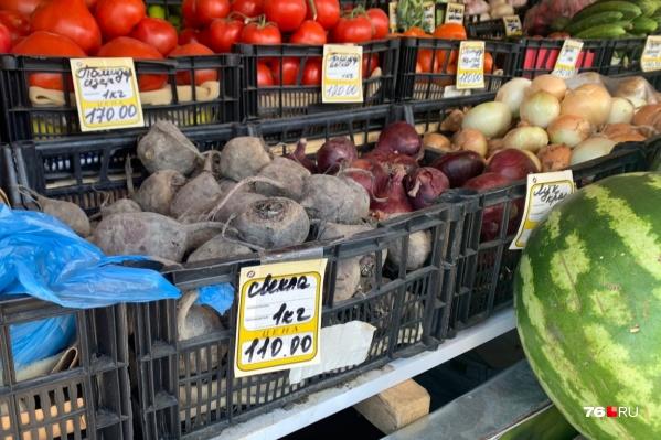 В Ярославской области сильно подорожали овощи
