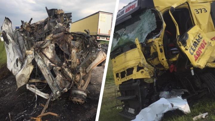 Появилось видео смертельного ДТП с двумя «Газелями» и грузовиком