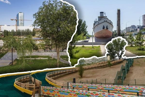 Вспоминаем, как реконструировали скверы Пахмутовой и у «Гасителя», а также парк «Раздолье»