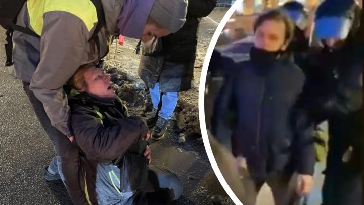 «А если бы она животом нанесла сапогу травмы?»: ирония уральца на жестокость силовика в Питере