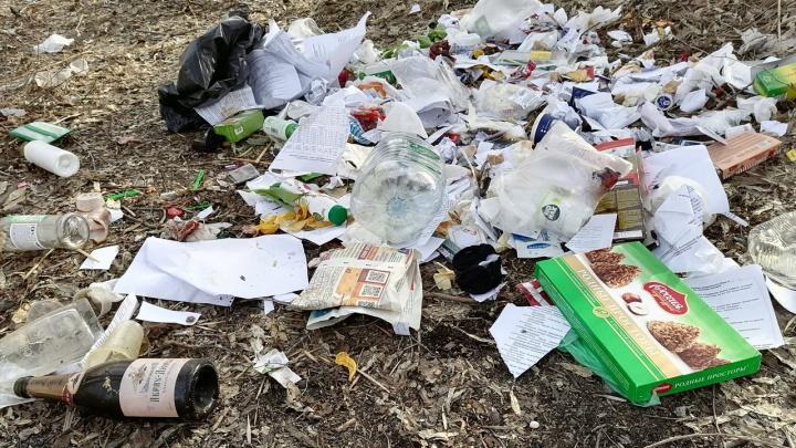 «Конфеты, сахар, чай. И главное — отчеты»: возле администрации в Волгограде нашли кучи мусора и документов