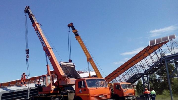 На трассе Челябинск — Курган остановили движение из-за обрушения моста
