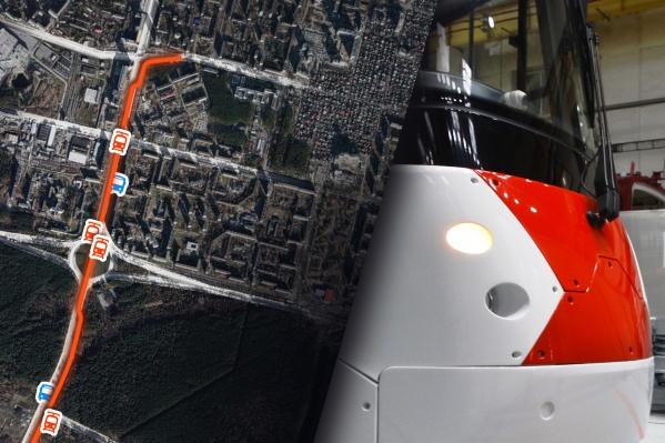 Стала известна схема остановок на трамвайной линии в Академический