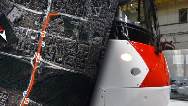 Где будет забирать пассажиров трамвай в Академический: карта всех остановок