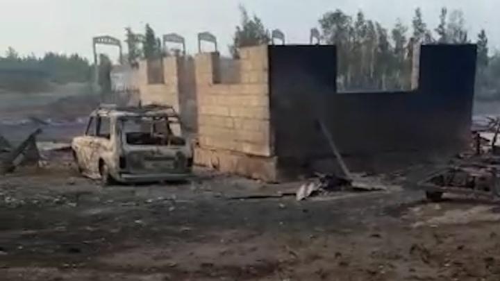 Огонь на юге Челябинской области уничтожил больше 70 домов и дач