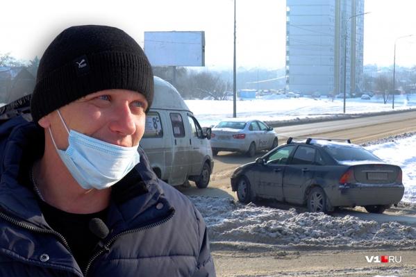 Столкновение машин произошло на этом перекрестке в Краснооктябрьском районе