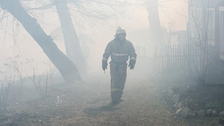 Законсервированная школа сгорела в небольшом селе Иланского района