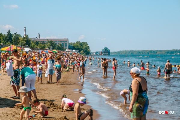 Самарские пляжи пользуются повышенным спросом