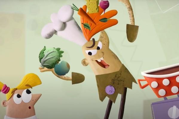 Капризка учит детей хулиганить и безобразничать: например, готовить суп из всего, что попадется под руку