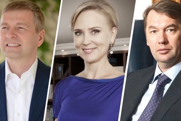 В числе самых богатых бизнесменов России оказались Дмитрий и Елена Рыболовлевы, а также Андрей Кузяев
