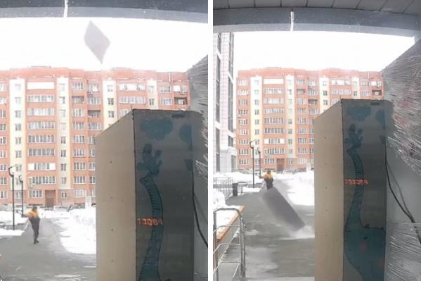Инцидент попал на камеры домофона