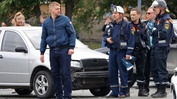 Водителю, устроившему ДТП с пятью машинами в Челябинске, запретили садиться за руль