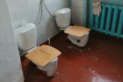 Так выглядит обычный туалет в российской школе