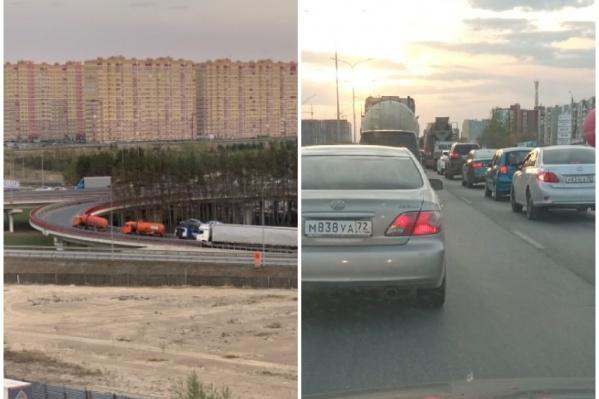 Движение остановилось на пересечении Московского тракта и объездной дороги