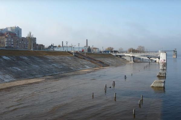 Причалы речного вокзала ушли под воду