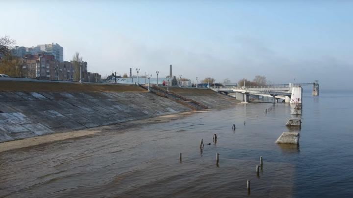 В Самаре затопило причалы речного вокзала: видео с коптера