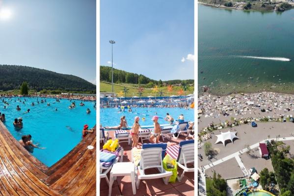 В Красноярске несложно найти отличный пляжный отдых даже в июне