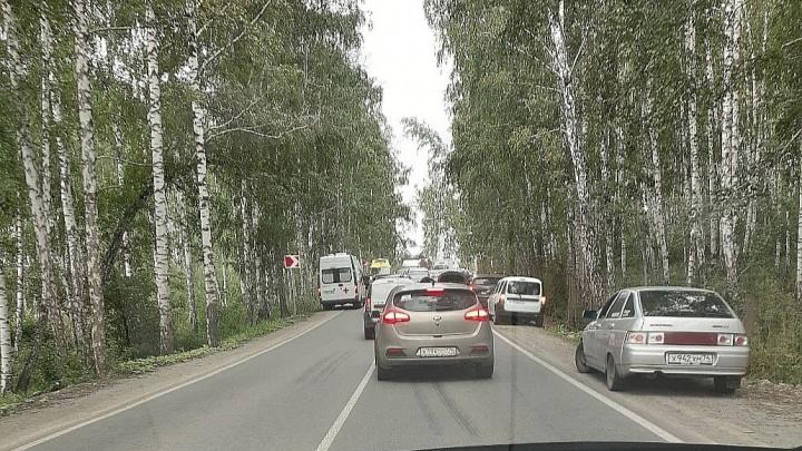В элитном поселке под Челябинском рядом с гольф-клубом произошло ДТП