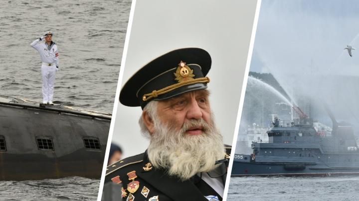 Как прошел парад ВМФ в Североморске: 50 фотографий военных, кораблей и моря
