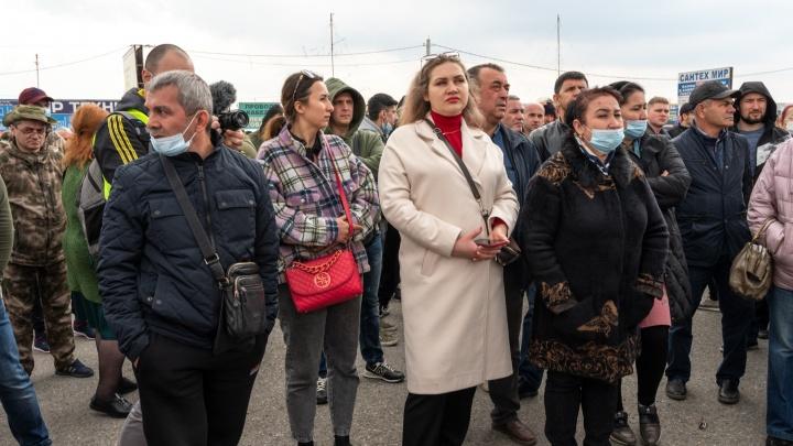 В Ростове предприниматели с закрытых рынков выступили на первомайском митинге
