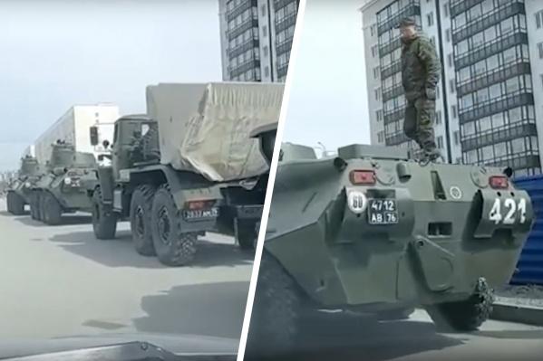 Военная техника была замечена на МЖК